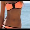 Купальник AliExpress Women's fashion triangl Neoprene Bikinis New Arrival sexy push up Neoprene SWIMSUIT Set Free shipping HFNV01912 фото