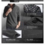 Свитер AliExpress 2013 Fall New Men's Fashion new knitted Cashmere sweater double collar jumper Sweaters pullovers Knitting shirts Asia S-XXL C169 фото