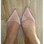 Туфли лодочки Aliexpress GOXEOU Women's Pumps Satin D'Orsay Pointed Toe High Heels Sexy Fashion Wedding Party Ball Office Ladies Shoes Size 32-46 фото