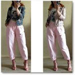 Джинсы AliExpress Toppies High Waist Pink Harem Pants Loose Trousers 2020 Summer Women Leisure Pants Korean style Streetwear фото