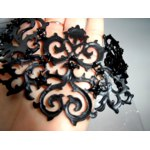 Колье Hot Selling Hollow Out Elegant Flower Choker Necklace And Earrings Jewelry Sets For Women Party Dress,Made Wth Spray Paint Alloy фото