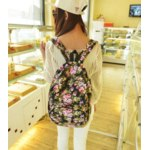 Рюкзак Aliexpress 2015 new fashion Floral Printed Canvas Backpack Fashion Girls' School Bag Flowers Women rucksack free shipping 497 фото