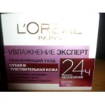 Крем для лица L'Oreal Paris Увлажнение ЭКСПЕРТ 24 часа  (масло розы) для сухой и чувствительной кожи фото