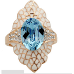 Кольцо Aliexpress One Flaring Outstanding Blue Crystal 2014 New Fashion Style Wholesale Wedding Crystal Rings For Women Many Little Crystals фото
