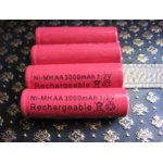 Аккумуляторы Ebay 4x AA 2A 3000mAh Ni-MH Recharge Rechargeable Battery Red Color Cell for MP3 RC фото