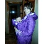 Слингокуртка Mum's era Зимняя ИНГРИД олени/фиолет фото