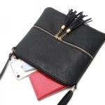 Сумка женская через плечо Aliexpress REPRCLA Fashion tassel For women bag faux leather shreds Bag luxury designer bag Crossbody bags for women bolsa фото