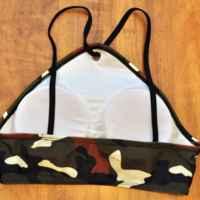 Купальник AliExpress P&j New High Waist Bikinis Swimsuit Women 2017 Sexy Camouflage Print Swimwear Stylish Summer Beach Bikini Set Bathing Suits фото