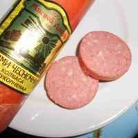 Колбаса полукопченая. Мясной Двор Салями чесночная фото