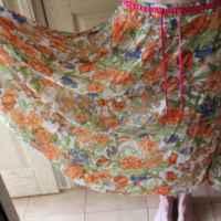 Юбка AliExpress LY3088  Blue chiffon maxi lady skirt cheap fashion long skirt womens  фото