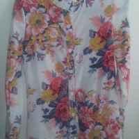 Блузка AliExpress Women Vintage full Floral Print Long Sleeve Blouse Shirts lady fashion flower chiffon Shirt blouse top фото