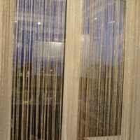 1M Width 2M Length Romantic Solid Color Fringe Door Curtain Drape String HHI-192654 фото
