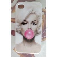 Чехол для мобильного телефона Aliexpress Stylish Marilyn Monroe Bubble Gum Protective Hard Cover Case For Apple i Phone iPhone 4 4S 4G 1 piece Free Shipping фото