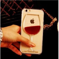 Бампер для смартфона Aliexpress New Hot Sale Liquid Quicksand Red Wine Clear Transparent Phone Case hard back Cover for iPhone 4S/ 5C / 5S / 6 /6S/6Plus/6S Plus фото