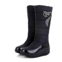 Зимние сапоги Aliexpress AISIMI new winter Russia keep warm snow boots Cotton shoes fashion platform down winter boots mid calf half knee high boots фото