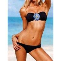 Купальник AliExpress More Than 20 Designs High Quality Women Printing Bikini Set Swimwear Hot Sales Push Up Crystal Diamond Bikini Swimsuit фото