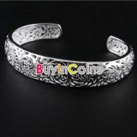 Браслет Buyincoins Fashion Perfect Christmas Gift Jewelry Silver Classic Style Cuff Bangle Bracelet фото