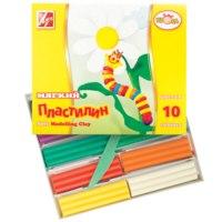Мягкий пластилин КРОХА 10 цветов (Луч) фото