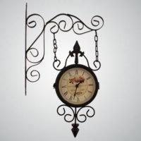 Часы настенные KAIROS, Корея интерьерные двусторонние фото
