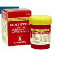 Средства д/лечения простуды и гриппа Синмедик Комбигрипп мазь фото