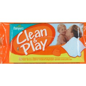 Влажные салфетки Pampers Clean and Play фото