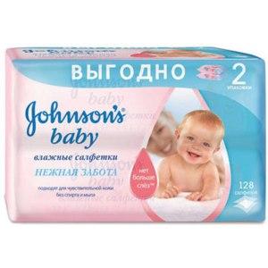 Влажные салфетки Johnson's baby нежная забота фото