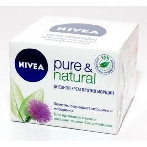Крем для лица NIVEA Pure & Natural дневной против морщин фото