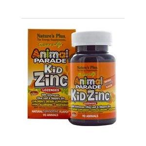 БАД для детей Nature's Plus Source of Life, Animal Parade, Kid Zinc Lozenges, Natural Tangerine Flavor, 90 Animals фото