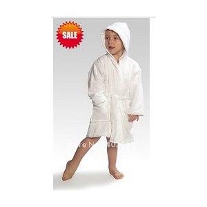 Халат AliExpress Bathrobe, Kids Bathrobe,100%bamboo fiber, White color with hooded, Baby bathrobe, Unisex фото