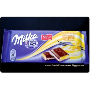 Шоколад Milka Vanilla cream фото