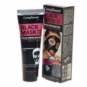 Маска-пленка для кожи лица Compliment Black Mask Co-Enzymes фото