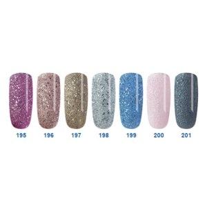 Лак для ногтей Platinum collection Queen Песочные лаки, с россыпью серебряных и перламутровых блесток (№195-201) фото
