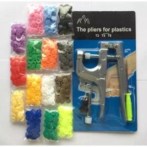 Пресс для установки кнопок AliExpress U-shaped fastener, pliers, KAM + 150 button, T5 set, plastic polymer button, button, press pin, fabric, button, press machine, sewing tool фото