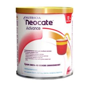 Детская смесь Nutricia Неокейт Эдванс / Neocate Advance  для детей от 1 года до 10 лет фото