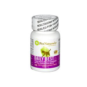 Витамины Pet Naturals of Vermont A Multi-Vitamin/Mineral Supplement for Cats, Beef Flavored, 100 Chewable Tablets фото