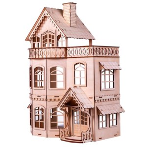 Папа сделал Кукольный домик с верандой фото