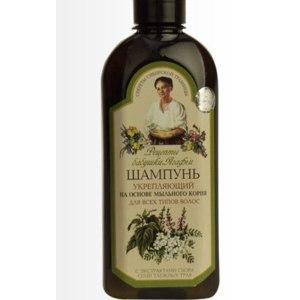 Шампунь Рецепты бабушки Агафьи На основе мыльного корня с экстрактами сбора семи таёжных трав фото