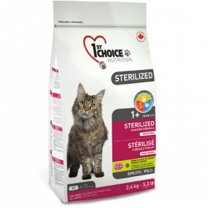 Корм для кошек 1-st Choice Sterilized сухой беззерновой корм для стерилизованных кошек (Курица и батат) фото