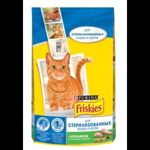 Корм для кошек Friskies  Purina стерилизованных, с кроликом и полезными овощами, 1,5 кг фото