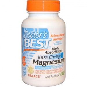 БАД Doctor's Best Магний, высокая усвояемость, 100% хелатный, 120 таблеток фото