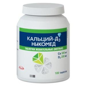 Витаминно-минеральный комплекс Nycomed Кальций D3 Никомед со вкусом мяты фото