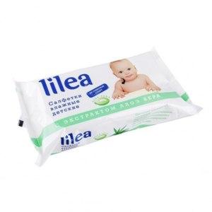Влажные салфетки Lilea для детей с экстрактом Алоэ Вера фото