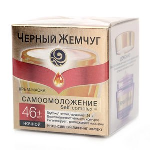 Крем для лица ночной Черный Жемчуг самоомоложение + 46 лет фото