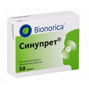 Противовирусное средство Bionorica Синупрет в таблетках фото