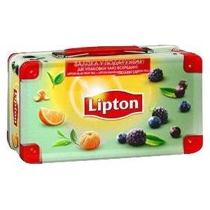"""Чай  Lipton набор """"фруктовая коллекция"""" + сундучок в подарок фото"""