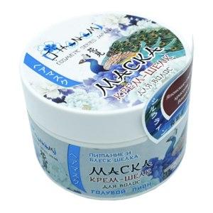 Маска для волос Parli O Hanami Крем-шелк Голубой пион. Питание и блеск шелка. фото