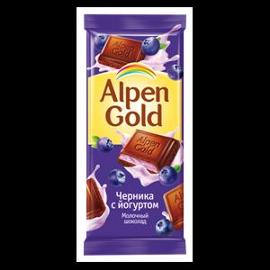 Молочный шоколад Alpen Gold «Черника с йогуртом» фото