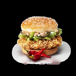 Фастфуд KFC Шефбургер Де Люкс острый фото