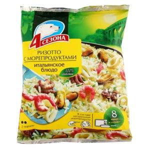 Готовые замороженные продукты 4 сезона Ризотто с морепродуктами фото