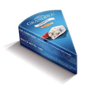 Сыр GrandBlu Creamy с голубой плесенью 56% фото